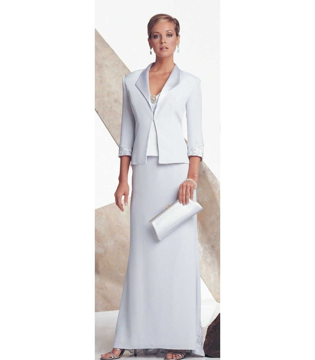 Montage 17942 Ice Gray 2pc Formal Evening Gown Dress Size 10P NWT ...