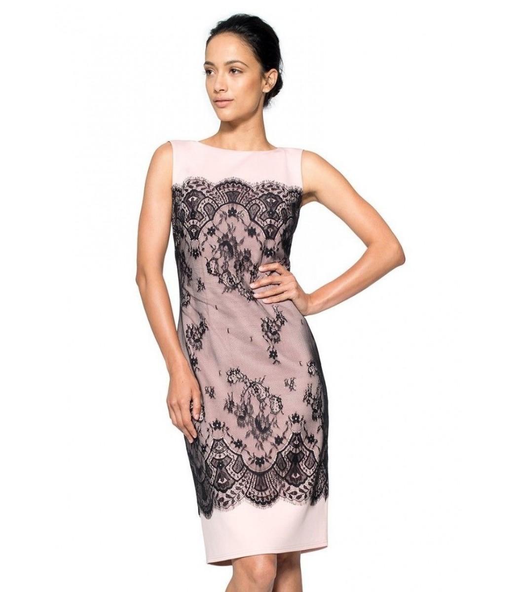Tadashi Shoji AGK1378MZ Black Pale Pink Cocktail Party Dress Size 8 ...
