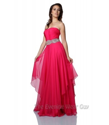 Jovani 5306 Fuchsia Pink Formal Pageant Evening Gown Dress Sz 2 NWT Retail $460