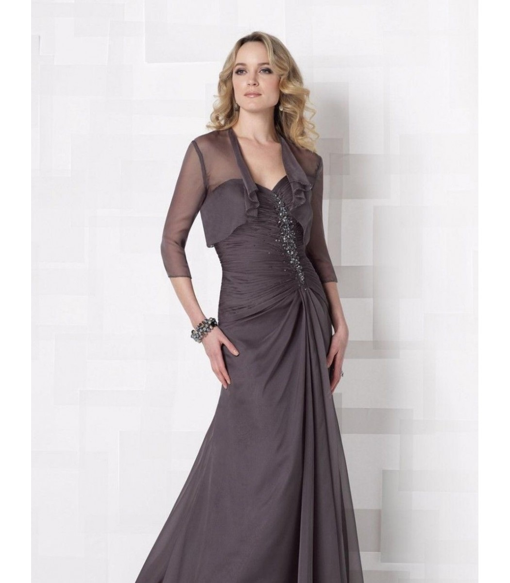 Cameron Blake 212680 Charcoal Gray Formal Evening Dress Gown Size ...