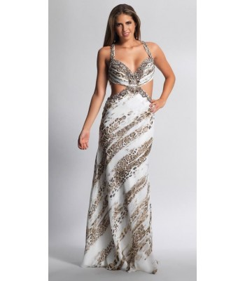Dave&Johnny 9047 Print  Prom Dress Evening Gown U.S. Size  5/6 RETAIL $287.00