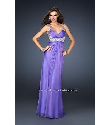 La Femme 17543 Light Purple Evening Gown Dress Plus Size 20 NWT Prom Retail $250