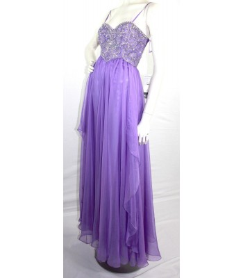 Dave&Johnny 7608 Orchid Prom Dress Evening Gown U.S. Size 8