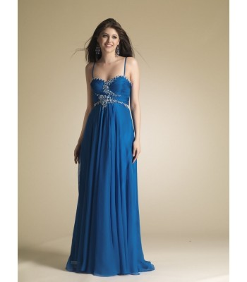 Dave&Johnny 6669  BLUE Prom Dress Evening Gown  Size 9/10 NWT Formal
