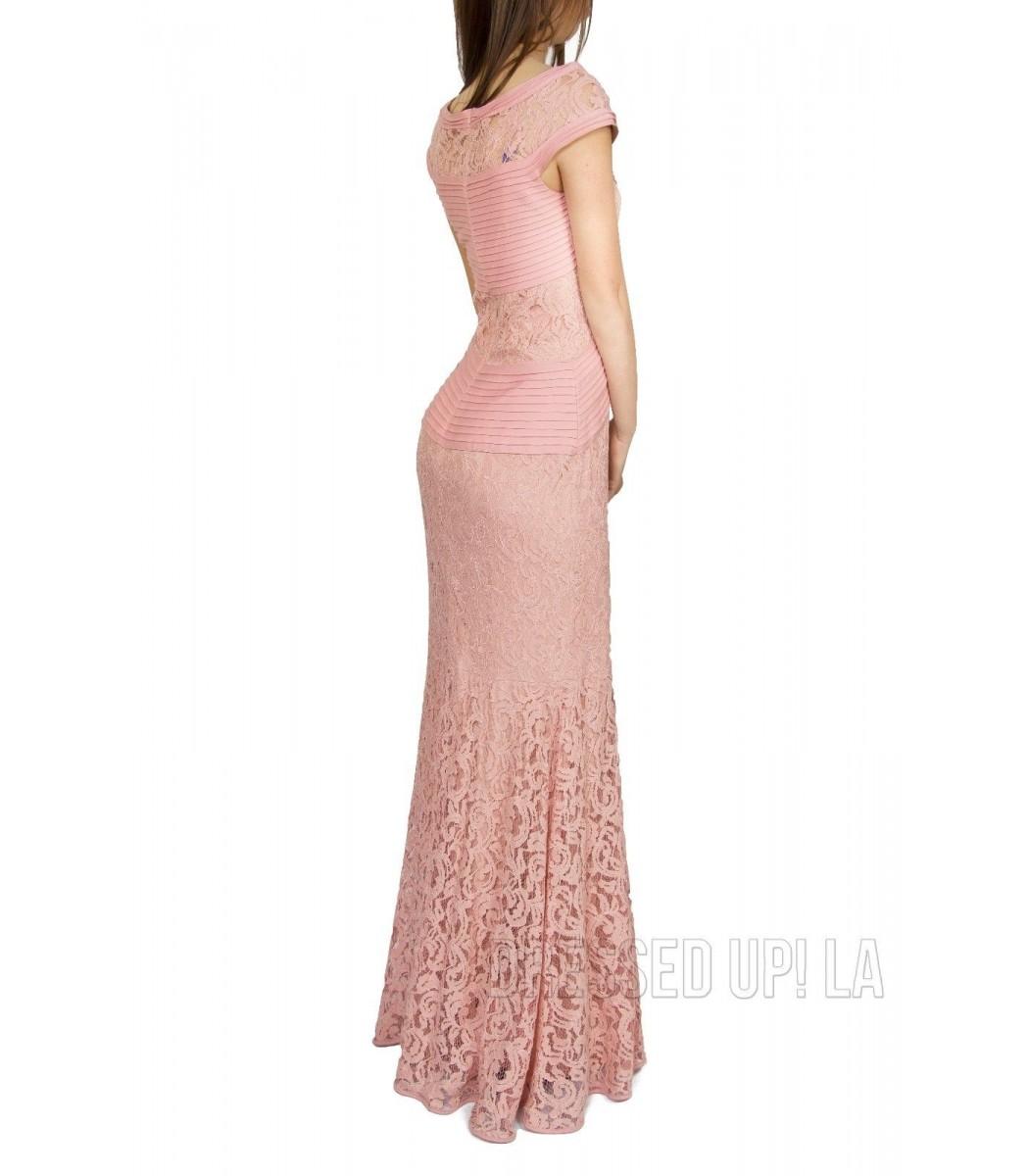 Tadashi Shoji ACZ1520L Pink Opal Lace Evening Gown Dress Size 12 NWT ...