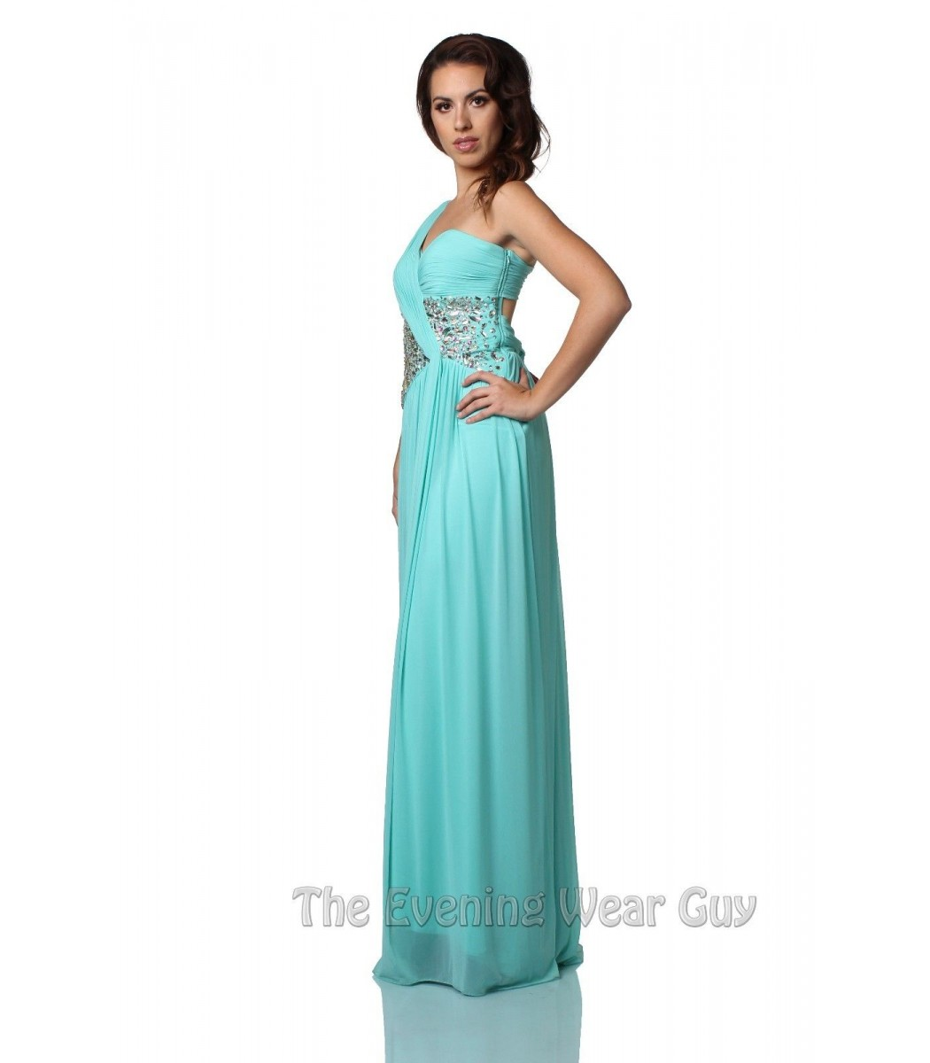Terani Couture P1502 Tiffany Blue One Shoulder Formal Gown Prom ...