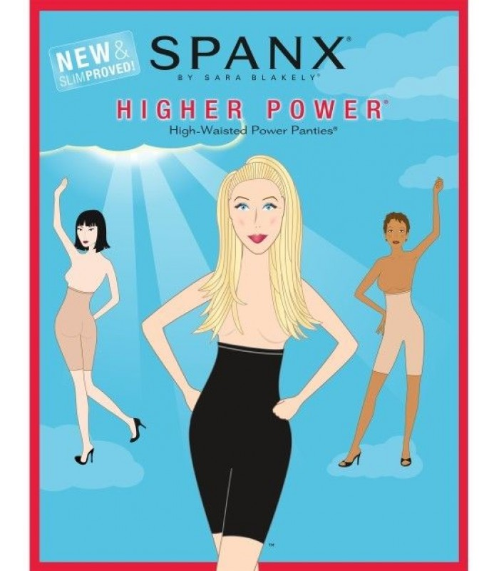 Spanx Higher Power®, New & Slimproved! Size A B C BLACK  New NIP Shapewear