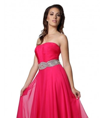 Jovani 5306 Fuchsia Pink Formal Pageant Evening Gown Dress Sz 6 NWT Retail $460