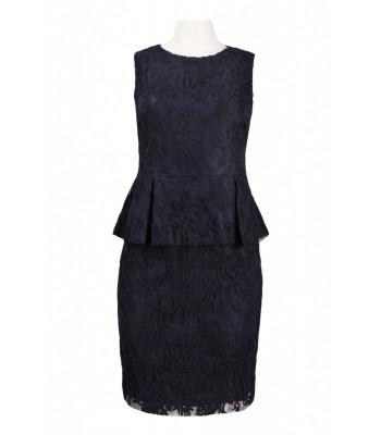 ADRIANNA PAPELL 041881790  NAVY Blue Cocktail Dress Sz US 6 8 10 12 RETAIL $160