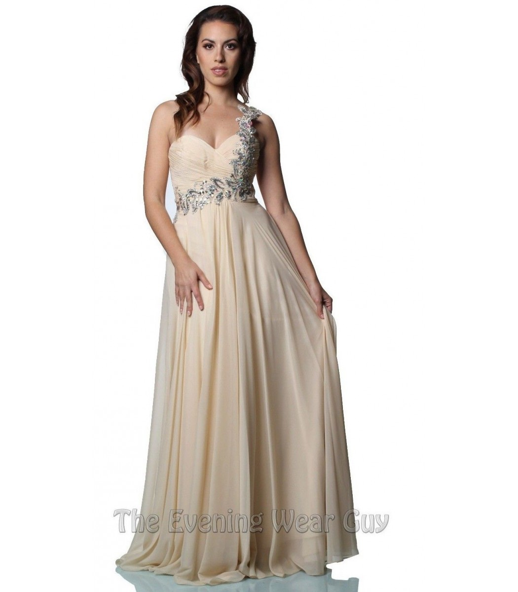 Night Moves by Allure 6679 Champagne Evening Gown Prom Dress Size 4 ...