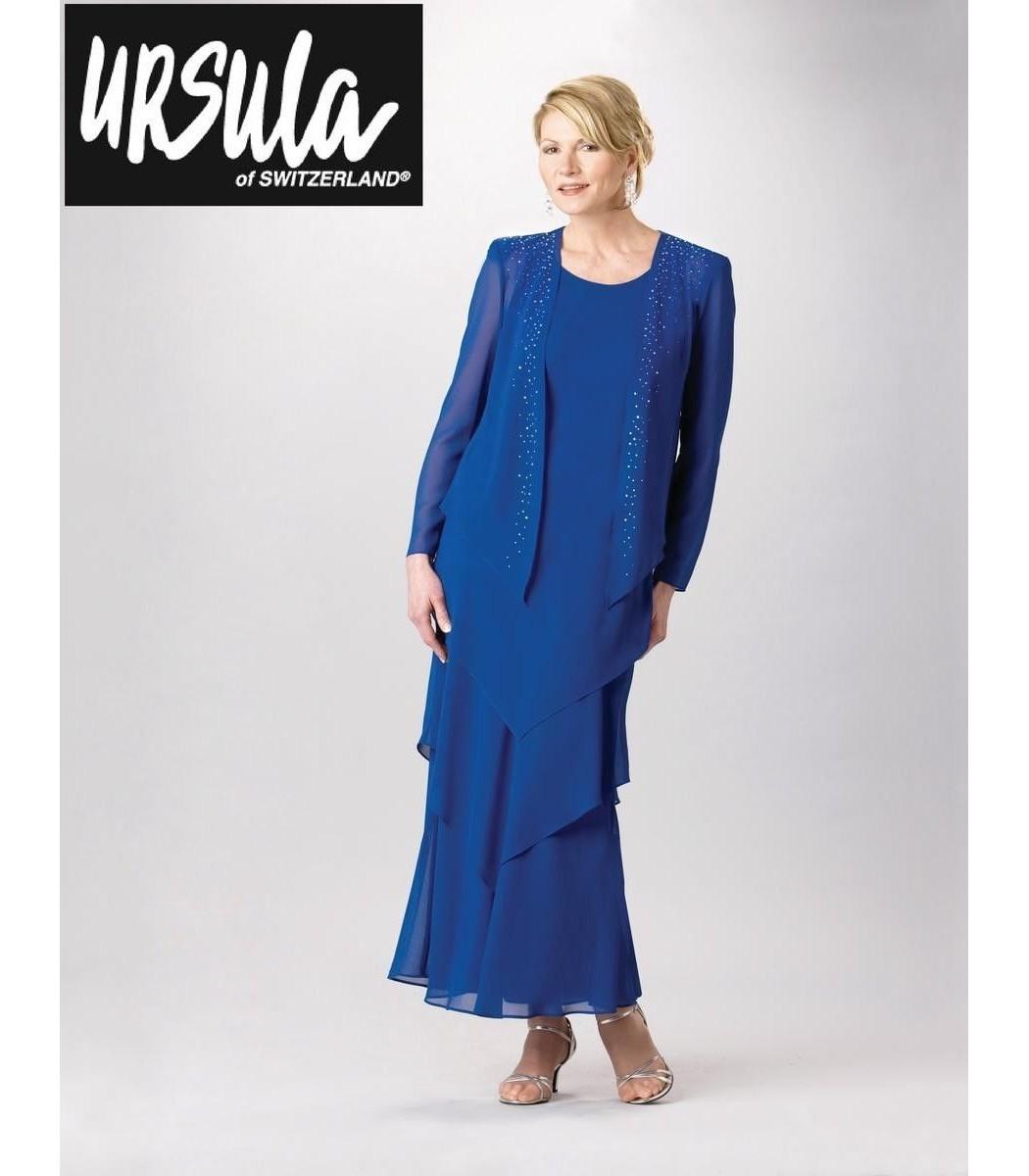 Ursula 62509 Cobalt Blue Evening Gown Dress Plus Sz 18 NEW Formal ...