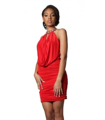 Jovani 4886 Red Club Halter Short Cocktail Party Dress Size 0 NWT Retail $280