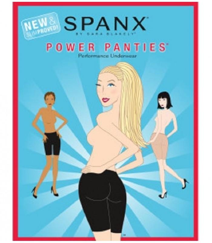 Spanx  Power Panties®, New & Slimproved! Size A B C Black  New NIP Shapewear