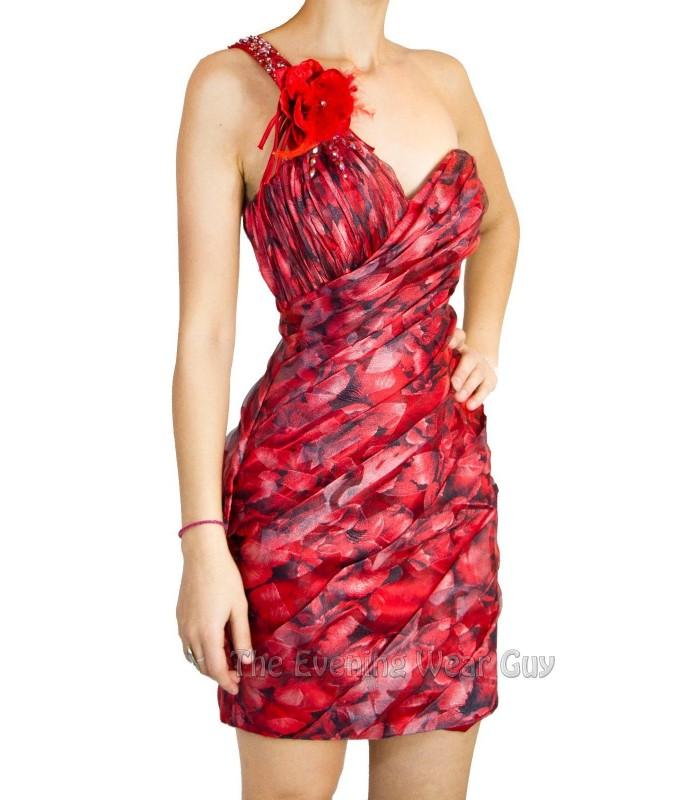 Scala Q12033 Black/Red Mini Cocktail Party Dress Sz 4 6 NWT Homecoming Clubwear